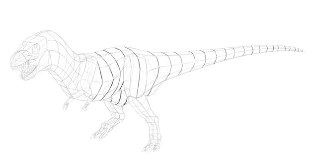 how to draw dinosaur body