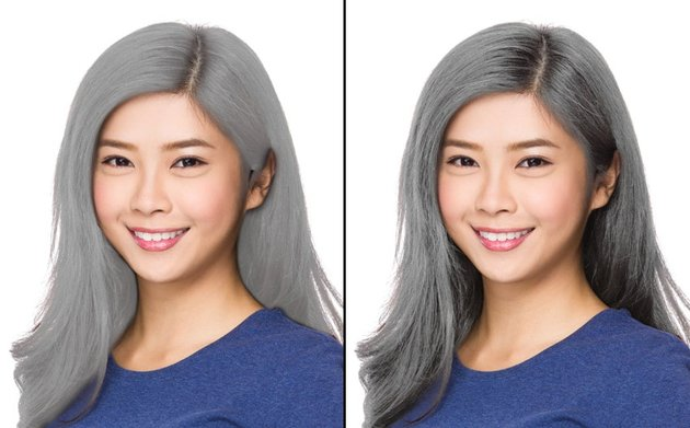 how to create grey hair in photoshop