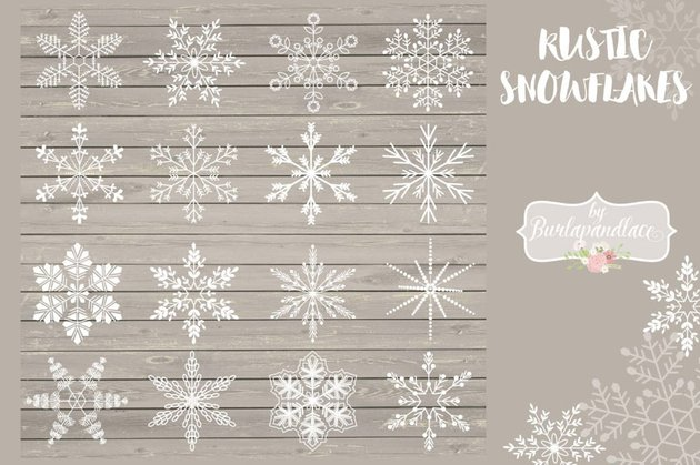 rustic snowflakes