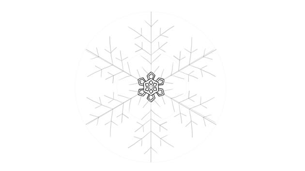 snowflake drawing