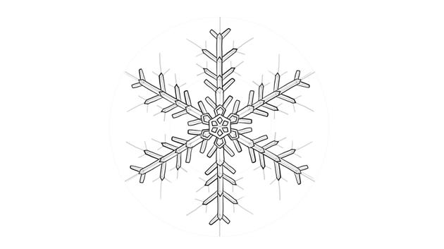 snowflake crystal drawing