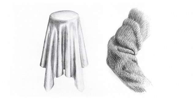 how to draw fabric texture with pencils