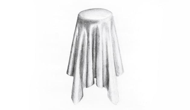 pencil silk drawing