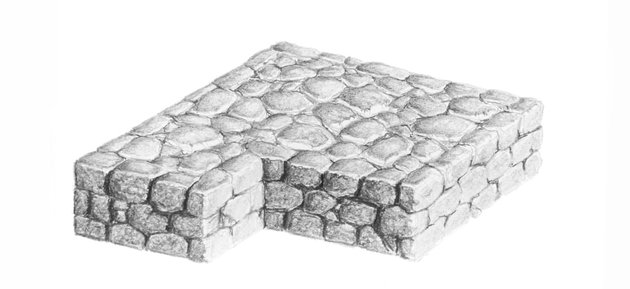 how to draw crevices in stones