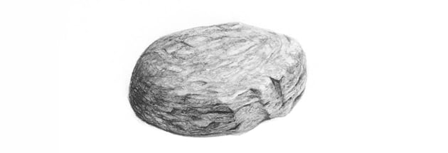 how to draw a realistic rock