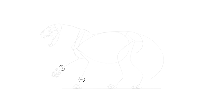 lion wrists drawing