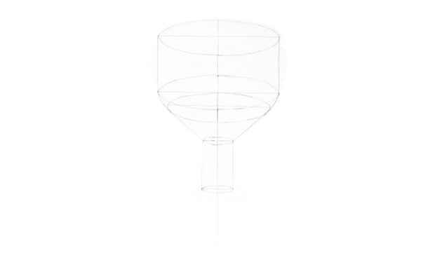 cup drawing outline