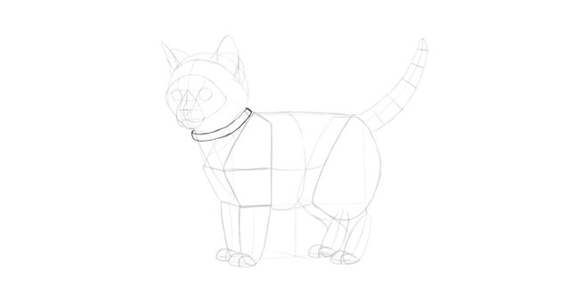 how to draw cat collar