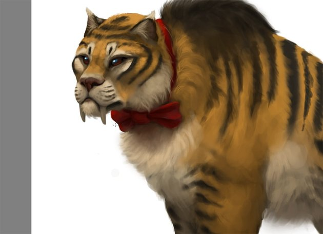 how to paint sabertooth cat