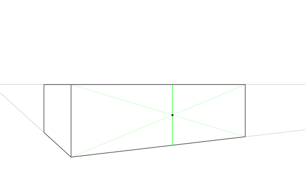 how to divide into halves in perspective