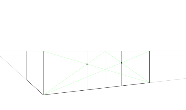 how to divide in thirds in perspective