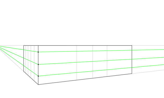 how to draw parallel lines in perspective