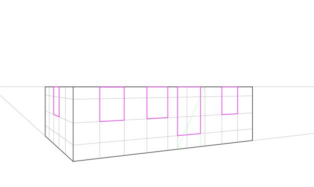 windows and doors in perspective