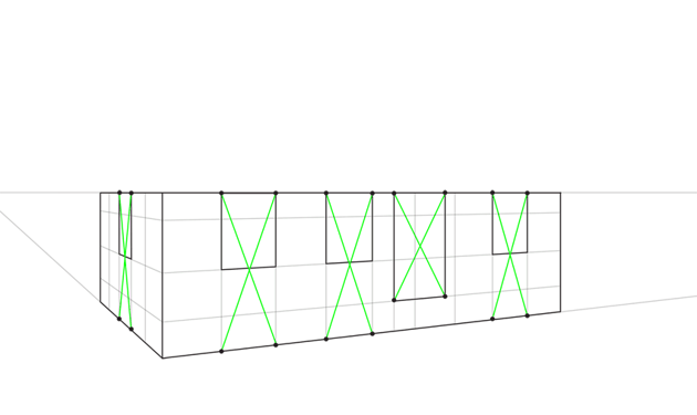 symmetrical division in perspective