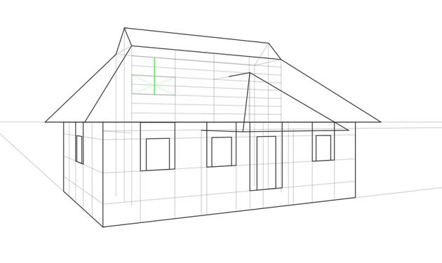 roof window height in perspective