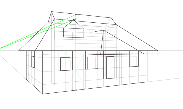 triangular window roof outline