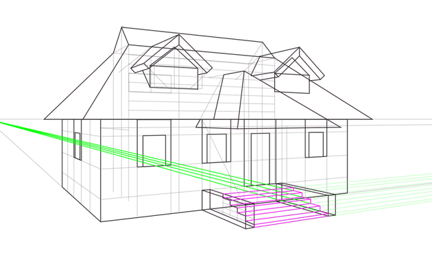 how to draw steps in perspective