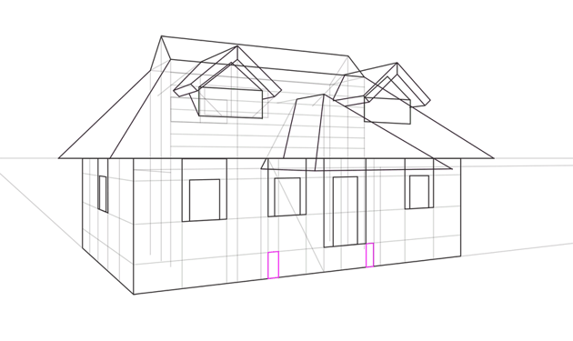 porch wall outline