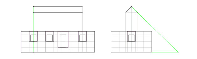 house roof triangle