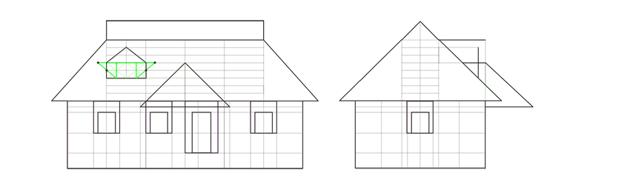 triangular window roof width