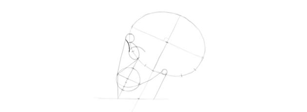 drawing skull eye socket