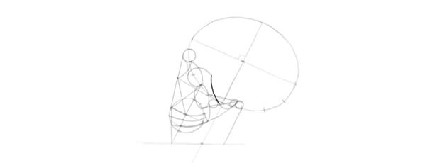 drawing skull eye socket details