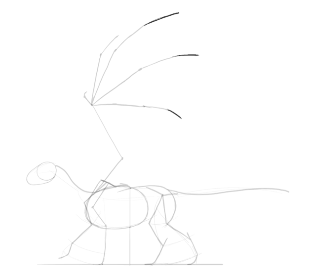 how to draw dragon wing fingers