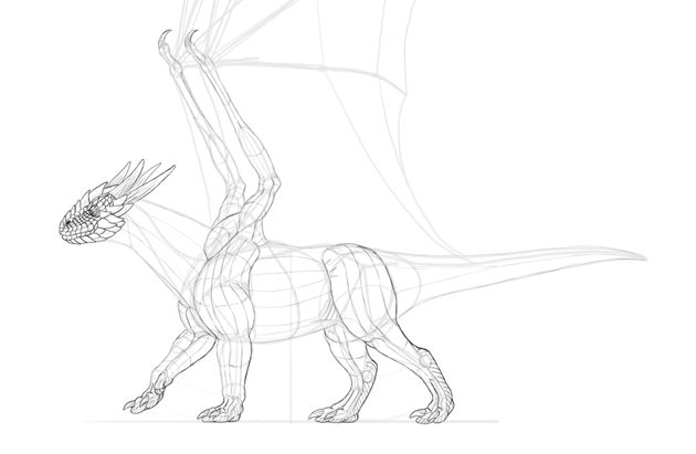 dragon scales sketch