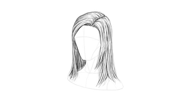 straight hair stray
