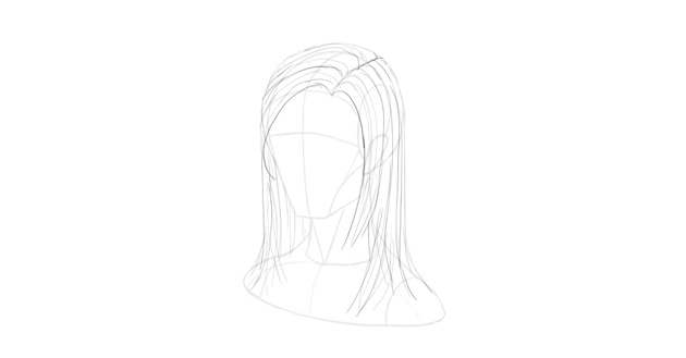 straight hair flow