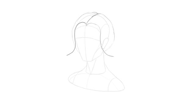 wavy hair face outline