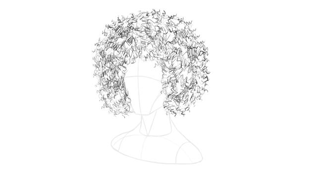 afro hair basic shading