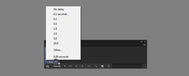 frame animation duration photoshop