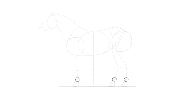 horse drawing hooves advanced