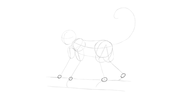 monkey drawing joints shape