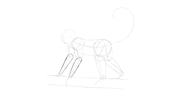 monkey drawing forearms shape