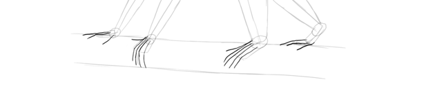 monkey drawing toes fingers