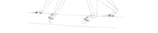 monkey drawing hands feet detail