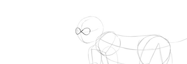 monkey drawing eyes mask