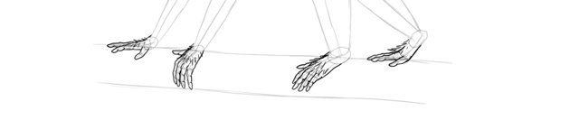 monkey drawing furry hands