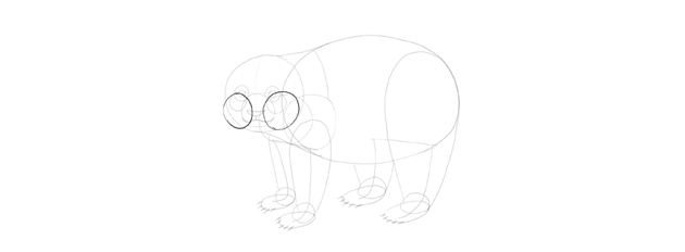 panda drawing cheeks