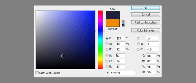 dark blue photo filter