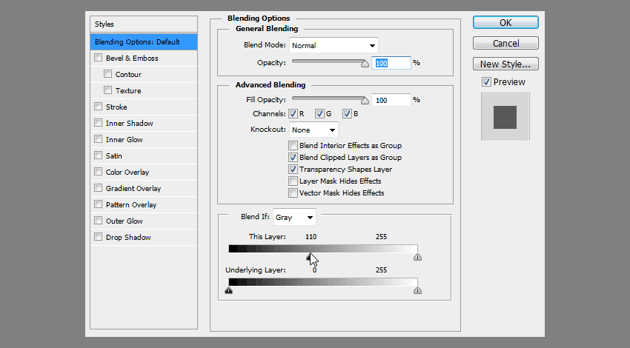 how to use blend if