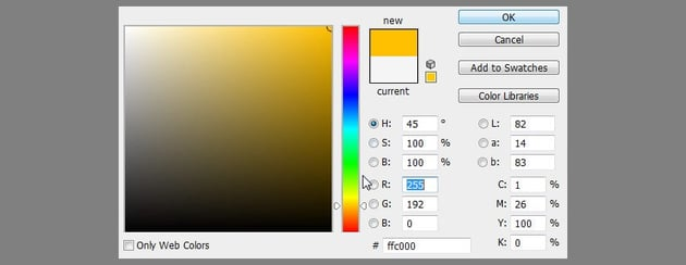 select color for glow