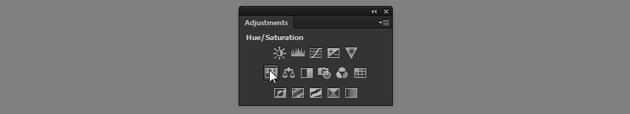 hue saturation adjustments panel