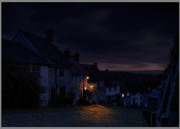 darkening background