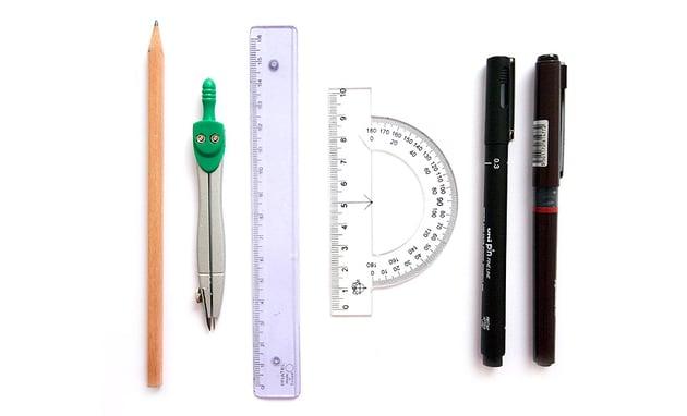 basic drawing supplies mandala