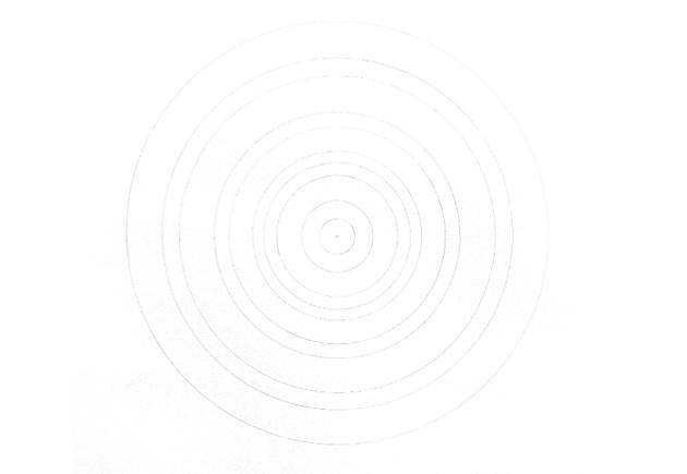 concentric circles mandala plan