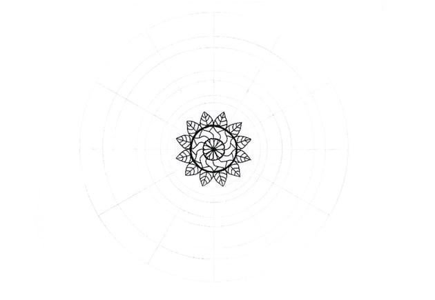 mandala all leaves detailed