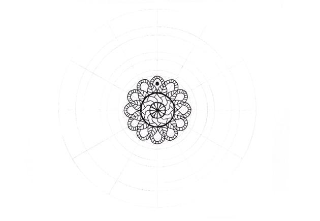 mandala dark circle